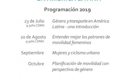 Webinar Series on Gender & Transport in Latin America