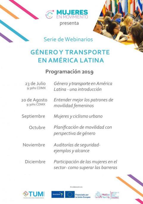 Webinar Series on Gender & Transport in Latin America