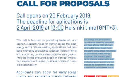 EEP Africa To Open a Gender-Themed Call for Proposals