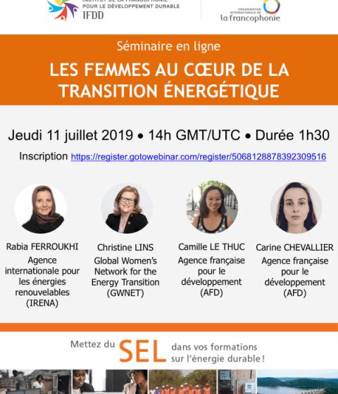 Les femmes au coeur de la transition énergétique
