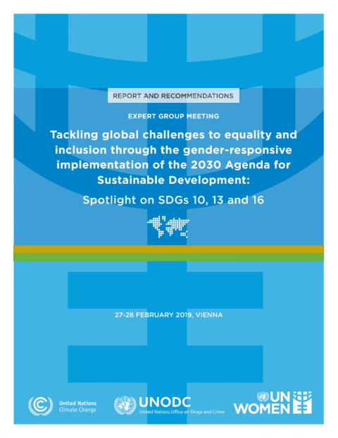 Tackling Global Challenges to Equality and Inclusion Through the Gender-Responsive Implementation of the 2030 Agenda for Sustainable Development