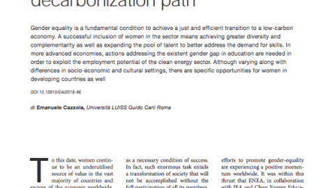 The Role of Women in the Decarbonization Path