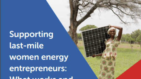 Supporting Last-Mile Women Energy Entrepreneurs