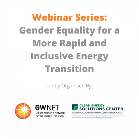 Webinar 4 – Women Empowerment: Best Practices for the Sustainable Energy Sector