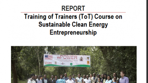 Clean Energy Entrepreneurship Training Curriculum