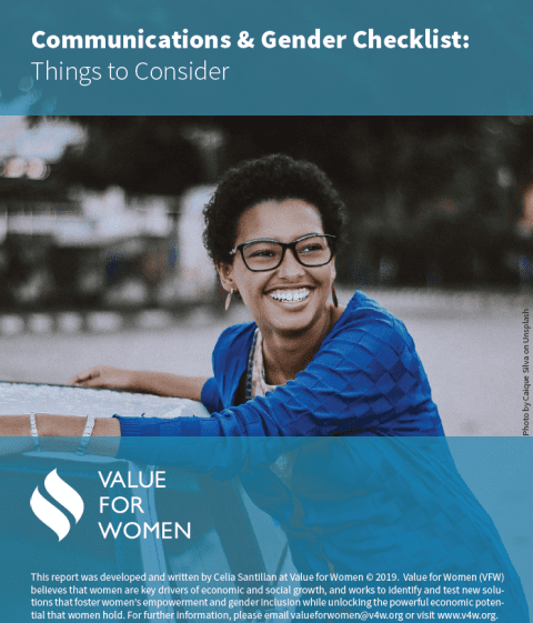 Communications & Gender Checklist: Things to Consider
