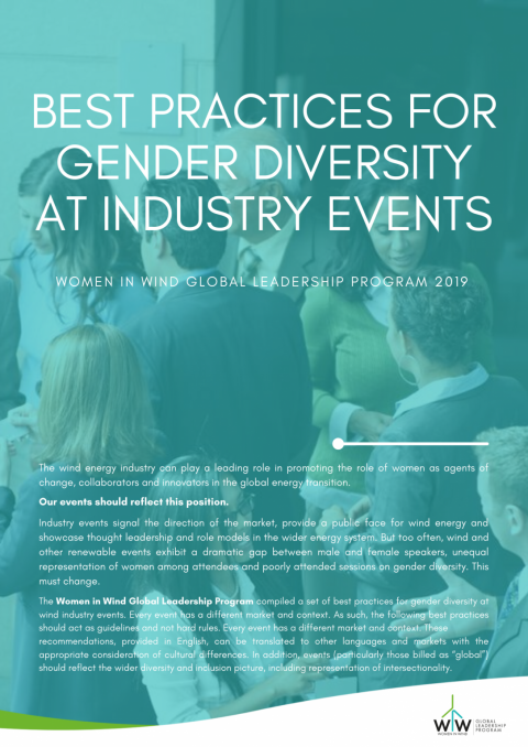 Wind Industry Commits to Greater Gender Diversity at Industry Events