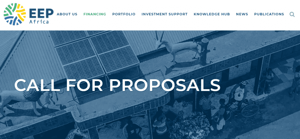 EEP Africa call for proposals