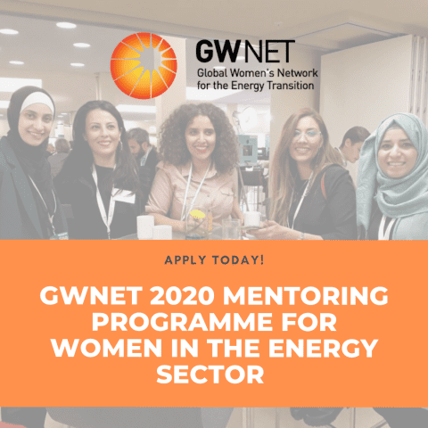 Call for Applications: GWNET 2020 Mentoring Programme for Women in the Energy Sector