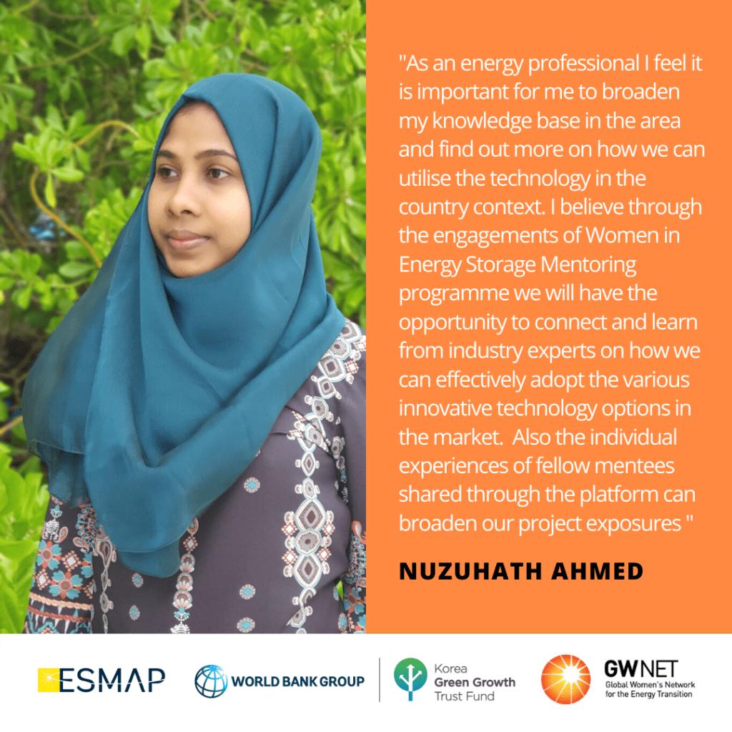 Nuzuhath Ahmed Energy Storage Quote