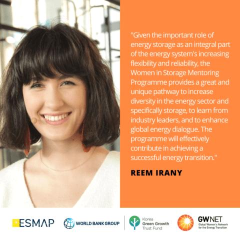 Reem Irany Energy Storage Mentoring Programme
