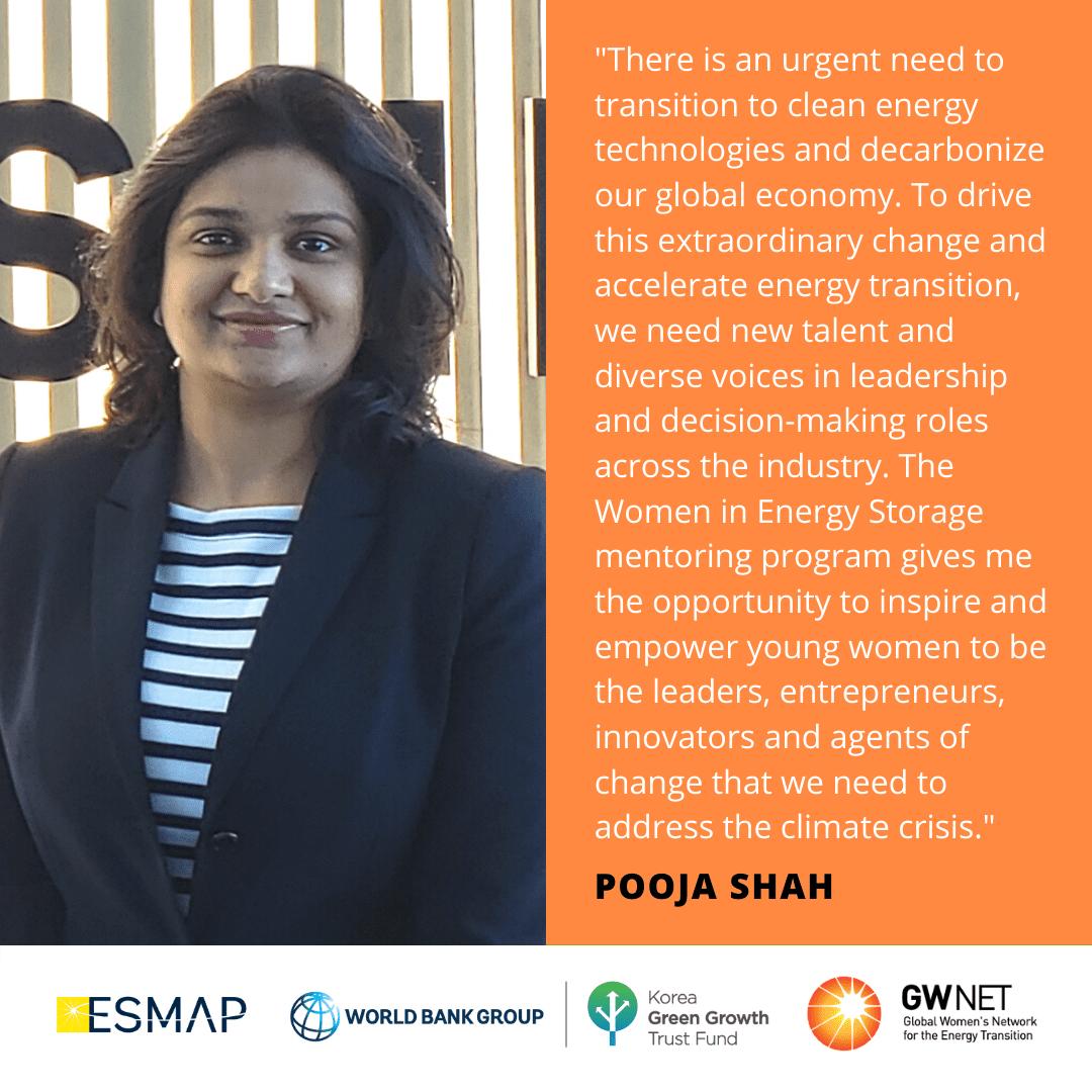 Pooja Shah Women in Energy Storage Mentoring Programme