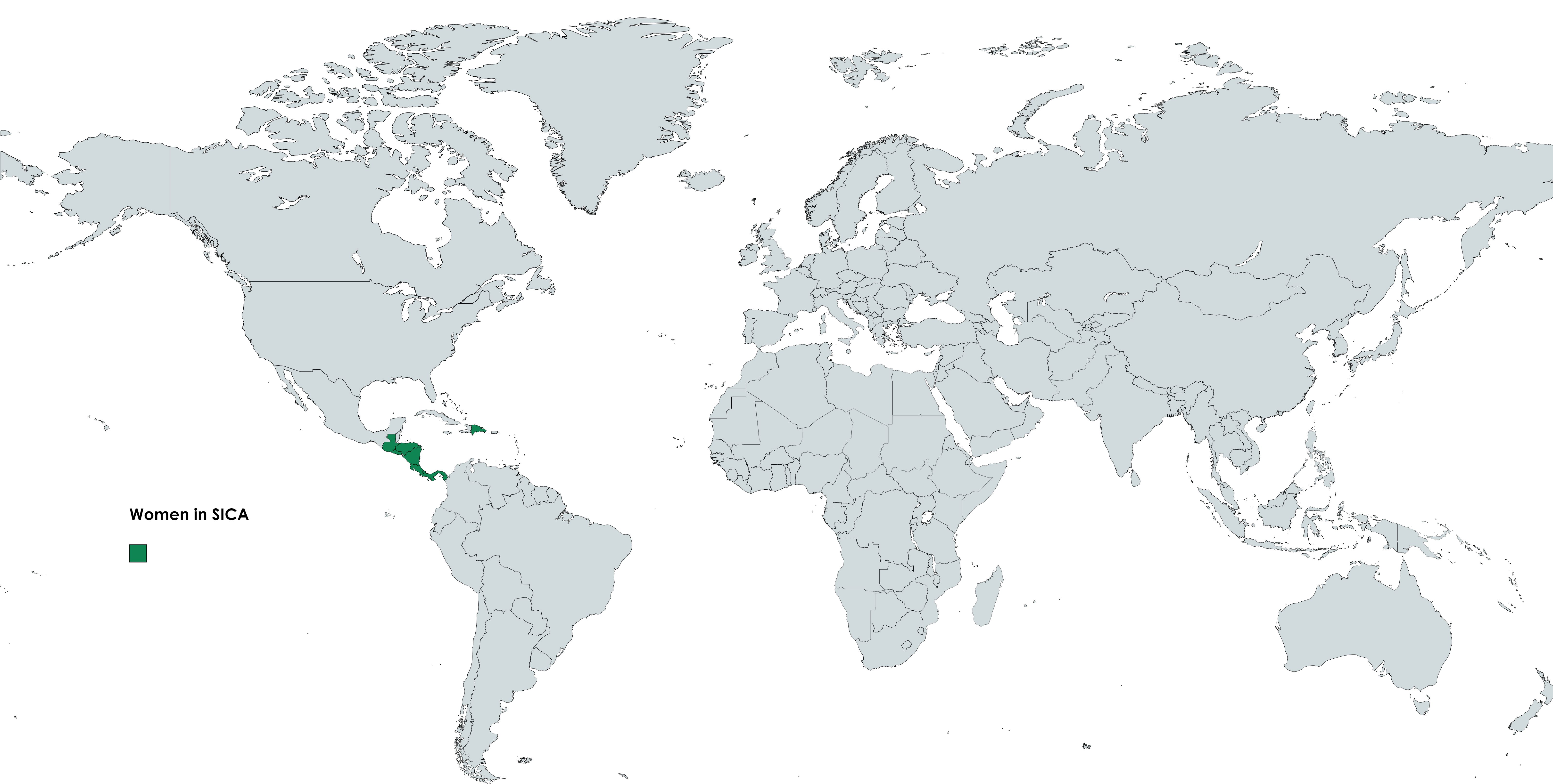 Map of the world with mentor countries highlighted