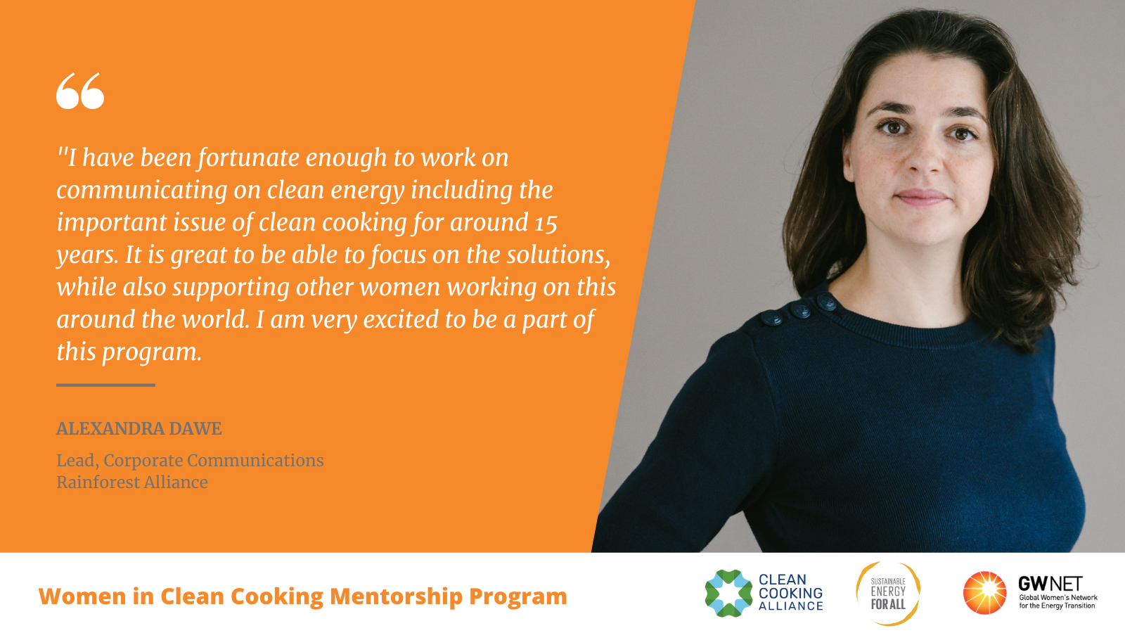Alexandra Dawe Women in Clean Cooking Mentorship Program