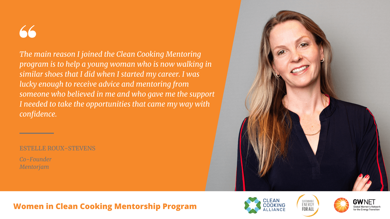 Estelle Roux Stevens WICC Mentorship Program quote