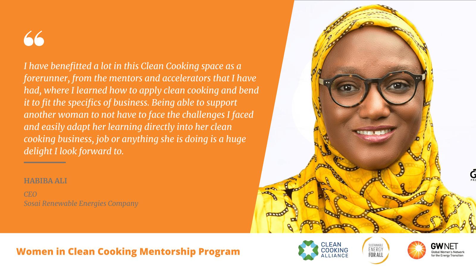 Habiba Ali Women in Clean Cooking Mentorship Program