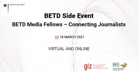 BETD Media Fellows 2021