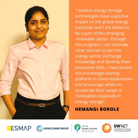 Hemangi Borole Women in Energy Storage Mentoring Programme