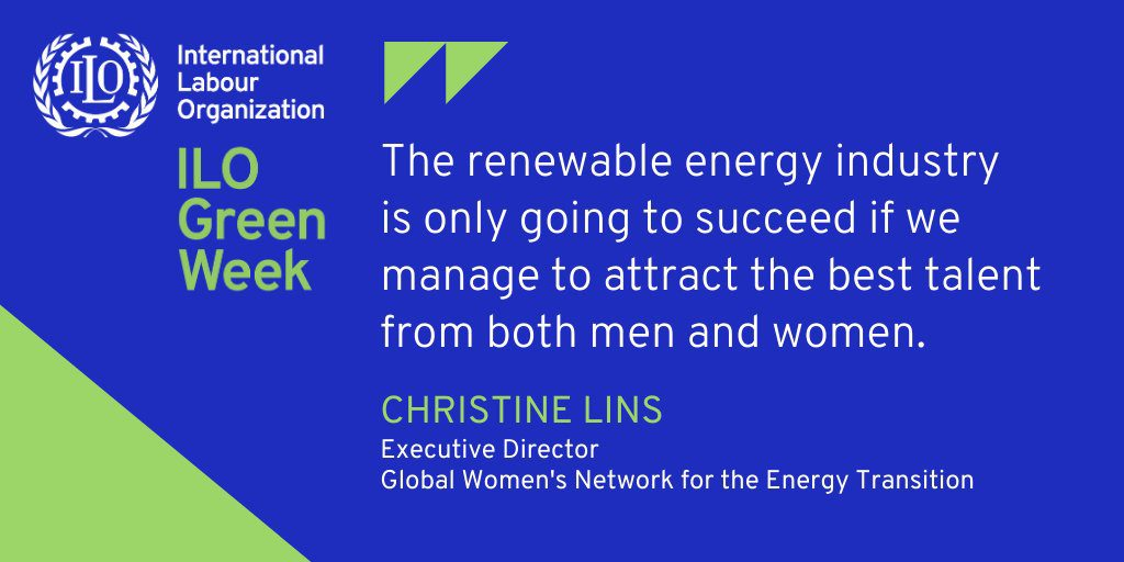 ILO Green Energy Week Christine Lins quote