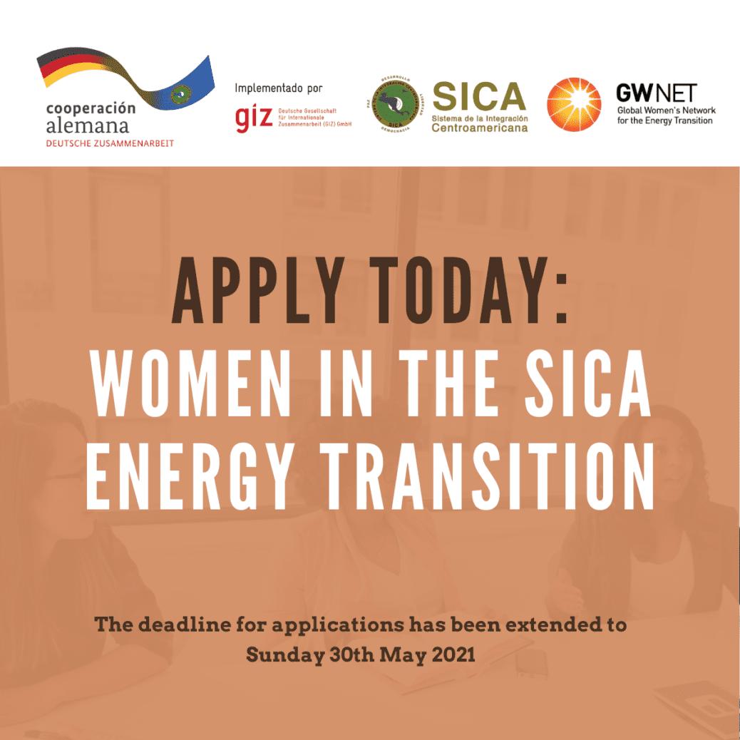 Women in the SICA Energy Transition - Extended Deadline