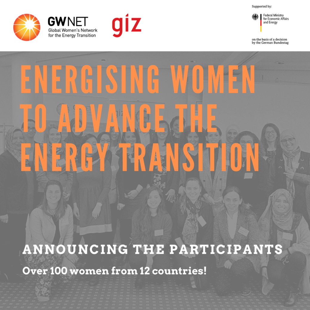Announcing the participants: Energising Women to Advance the Energy Transition
