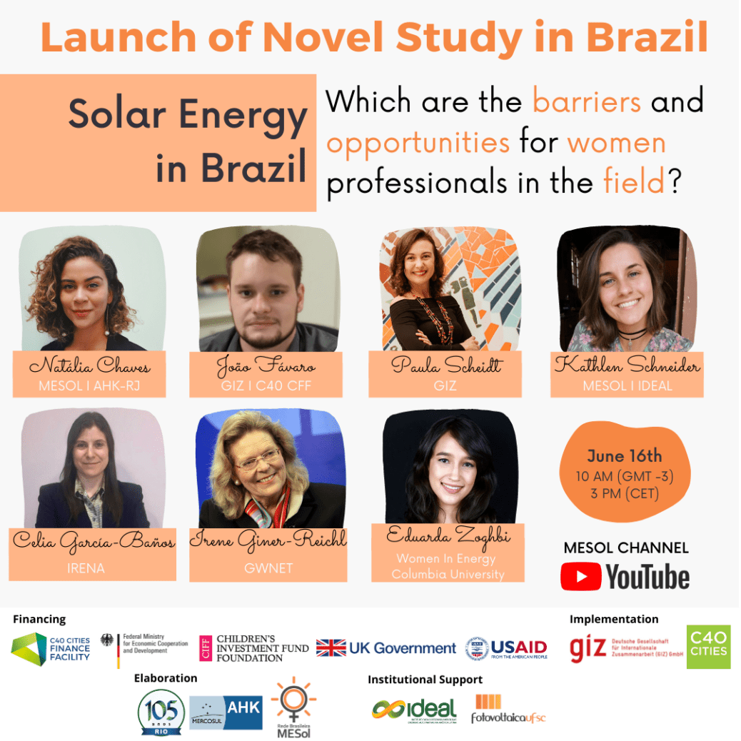 Event Launch poster of Gender study in Solar Energy in Brazil