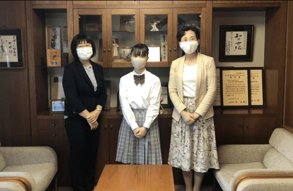 Picture of Ms. Takami, Ms. Michiyo Uehara, and Ms. Komai